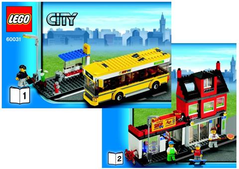 Bricklink Instruction 60031 1 Lego City Corner Reissue Town