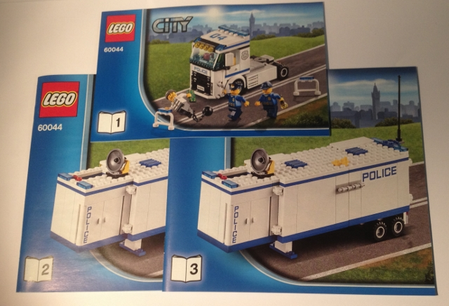 Bricklink Instruction 60044 1 Lego Mobile Police Unit Towncity