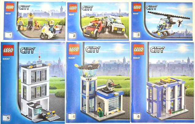 Bricklink Instruction 60047 1 Lego Police Station Towncity
