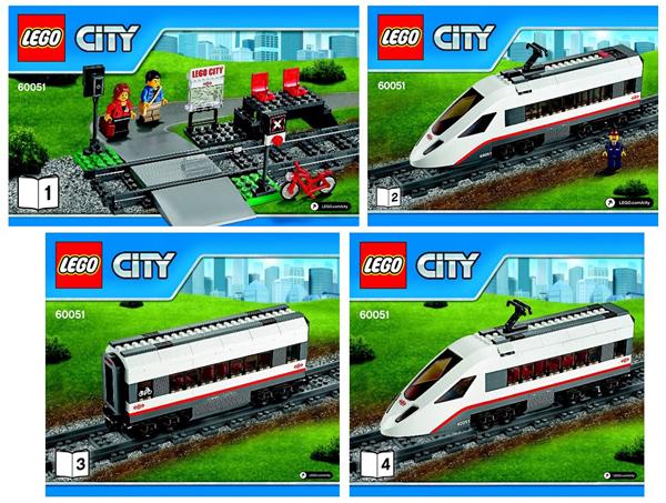 Bricklink Instruction 60051 1 Lego High Speed Passenger Train