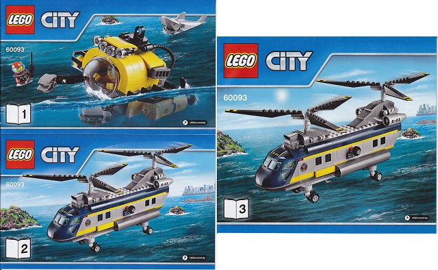 Bricklink Instruction 60093 1 Lego Deep Sea Helicopter Town