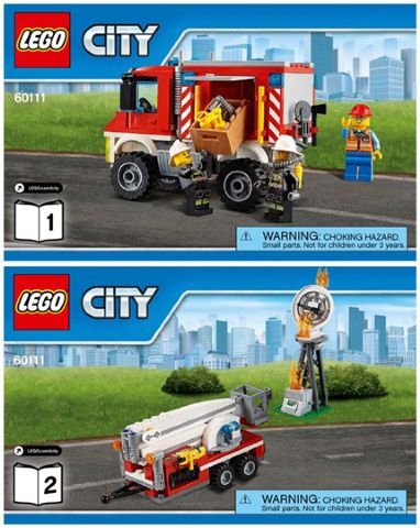 BrickLink - Instruction 60111-1 : Lego Fire Utility Truck