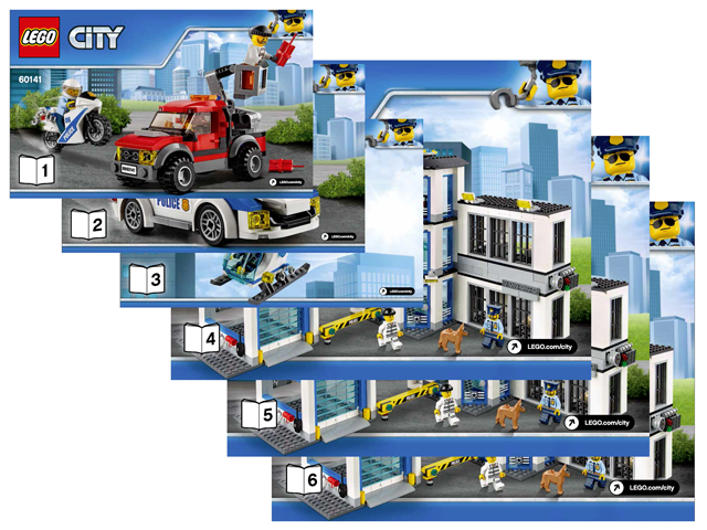 Bricklink Instruction 60141 1 Lego Police Station Towncity