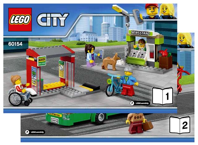 Bricklink Instruction 60154 1 Lego Bus Station Towncity