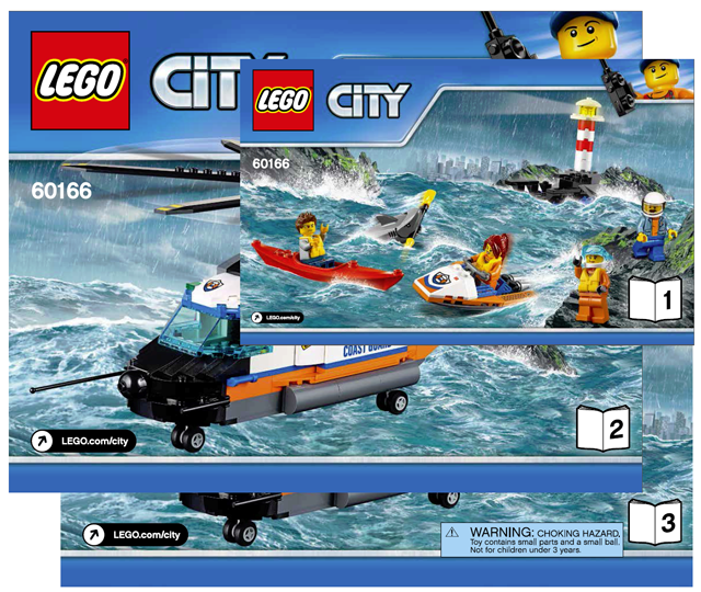 Bricklink Instruction 60166 1 Lego Heavy Duty Rescue Helicopter
