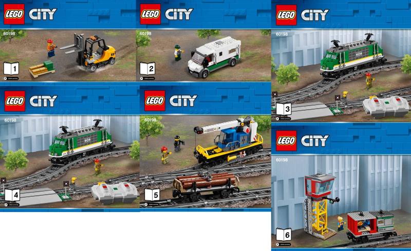 Bricklink Instruction 60198 1 Lego Cargo Train Trainrc Train