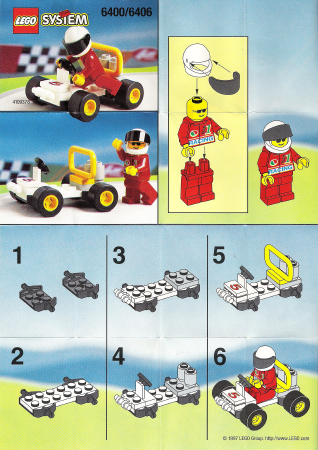 Bricklink Instruction 6406 1 Lego Go Kart Polybag Townclassic