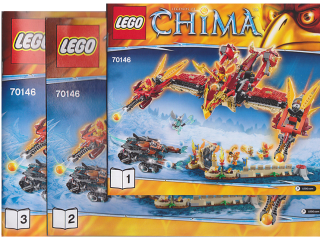 Bricklink Instruction 70146 1 Lego Flying Phoenix Fire Temple