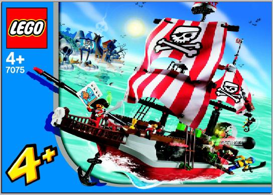 Bricklink Instruction 7075 2 Lego Captain Redbeards Pirate Ship
