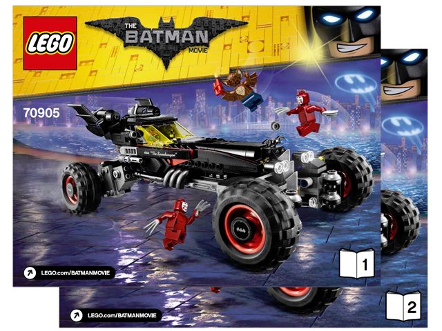 Bricklink Instruction 70905 1 Lego The Batmobile Super Heroes