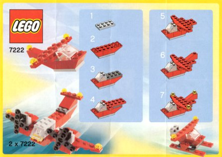 Bricklink Instruction 7222 1 Lego Small Red Helicopter Polybag