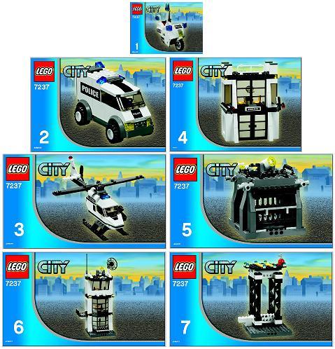 Bricklink Instruction 7237 1 Lego Police Station With Light Up