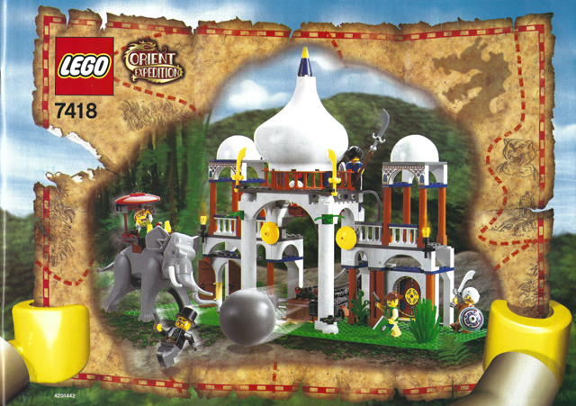 Bricklink Instruction 7418 1 Lego Scorpion Palace Adventurers