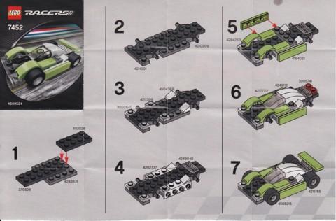 Bricklink Instruction 7452 1 Lego Lime Black Racer Polybag