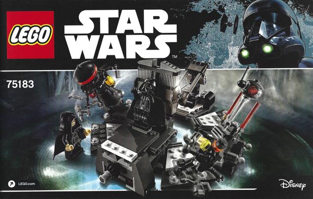 Bricklink Instruction 75183 1 Lego Darth Vader Transformation