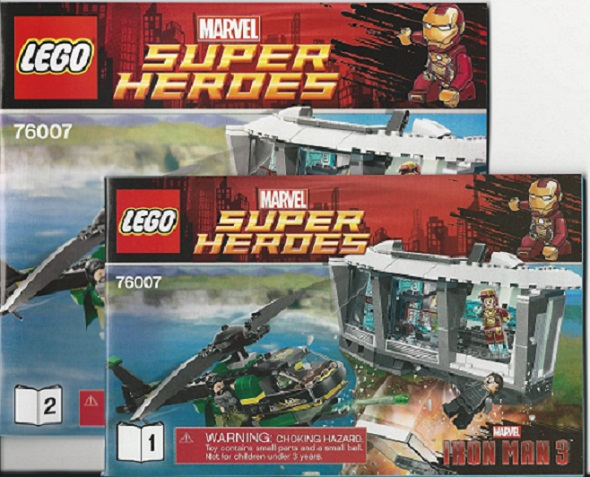 BrickLink - Instruction 76007-1 : Lego Iron Man: Malibu Mansion