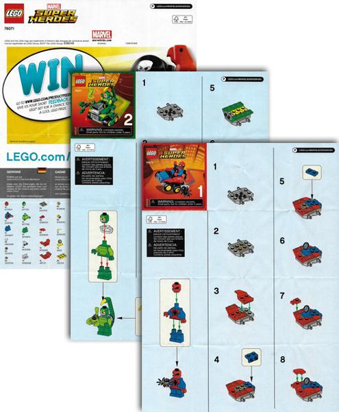 Bricklink Instruction 76071 1 Lego Mighty Micros Spider Man Vs