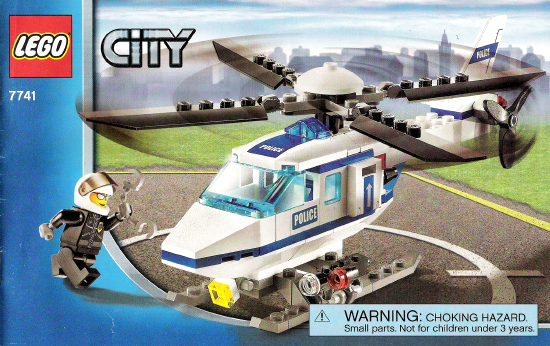 Bricklink Instruction 7741 1 Lego Police Helicopter Towncity
