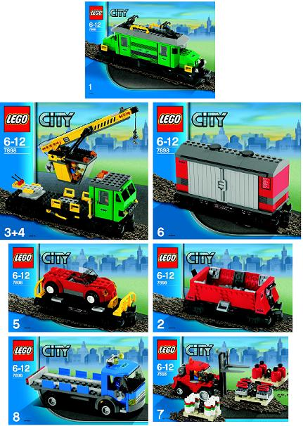 Bricklink Instruction 7898 1 Lego Cargo Train Deluxe Trainrc