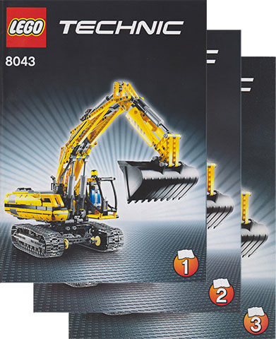 Bricklink Instruction 8043 1 Lego Motorized Excavator Technic