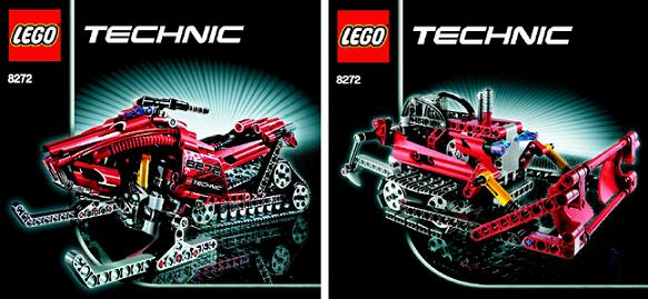 Bricklink Instruction 8272 1 Lego Snowmobile Technicmodeloff