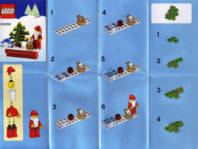 Bricklink Instruction 853353 99 Lego Magnet Set Santa Magnet