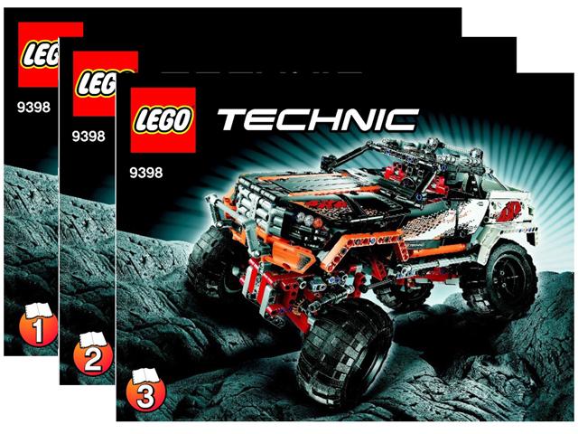 Bricklink Instruction 9398 1 Lego 4 X 4 Crawler Technicmodel