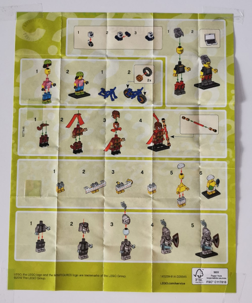 Galactic Bounty Hunter col19-11 New Lego Minifigures Series 19