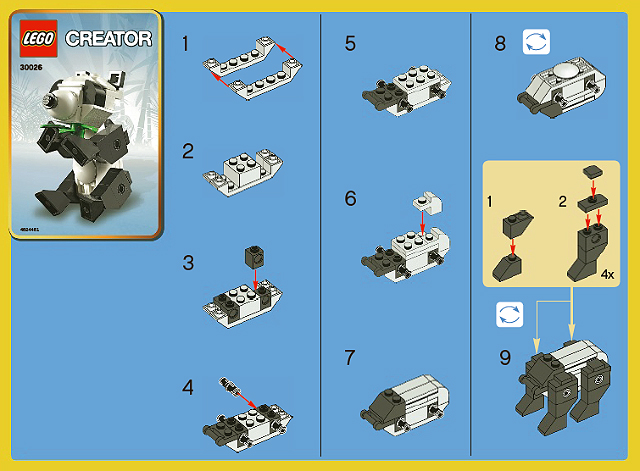BrickLink - Set 30026-1 : Lego Panda polybag [Creator:Basic Model:Creature]  - BrickLink Reference Catalog