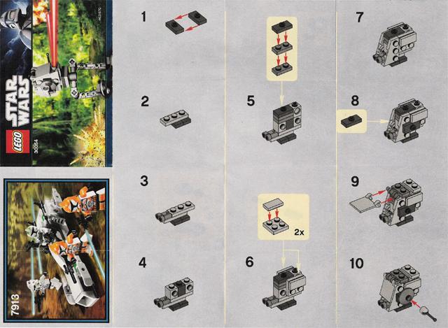 Bricklink Set 30054 1 Lego At St Mini Polybag Star Warsmini