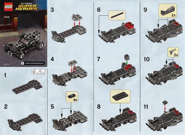 Bricklink Set 30446 1 Lego The Batmobile Polybag Super Heroes