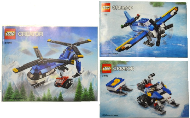 BrickLink - Set 31049-1 : Lego Twin Spin Helicopter [Creator:Model:Airport]  - BrickLink Reference Catalog