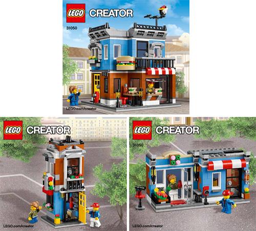 BrickLink - Set 31050-1 : Lego Corner Deli [Creator:Model:Building] -  BrickLink Reference Catalog