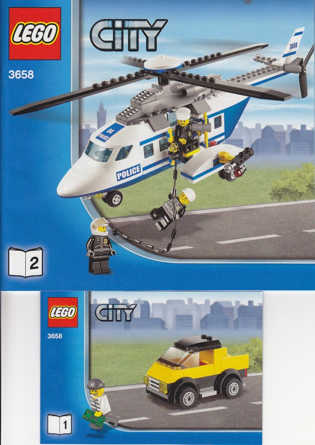 BrickLink - Set 3658-1 : Lego Police Helicopter [Town:City