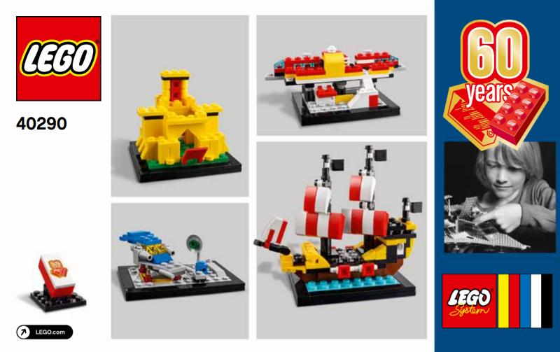 Ed. RETIRED - MISB Ltd 2018 LEGO 40290 60 YEARS ANNIVERSARY OF LEGO® BRICK