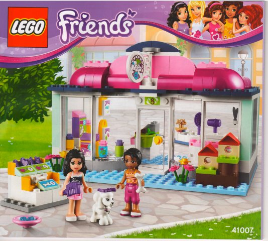 lego friends salon instructions