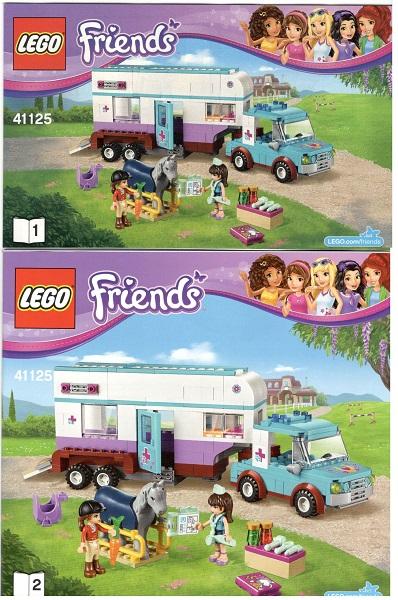 Bricklink Set 41125 1 Lego Horse Vet Trailer Friends
