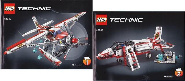 LEGO Technic Modèle Feuille Autocollant uniquement pour lego Set 42040 Fire avion-NEUF