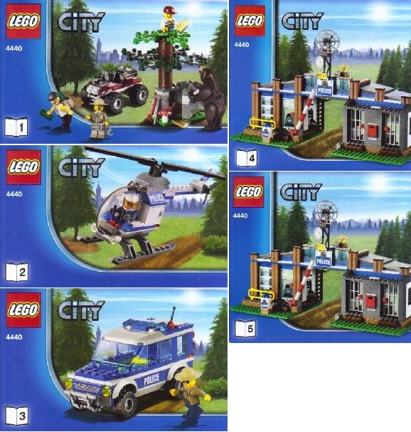 Bricklink Set 4440 1 Lego Forest Police Station Towncity