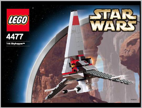 BrickLink - Set 4477-1 : Lego T-16 Skyhopper [Star Wars:Star Wars Episode  4/5/6] - BrickLink Reference Catalog