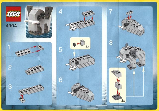1 x LEGO® Disney Aufbauanleitung,Instruktion aus Set 41159 Neuware