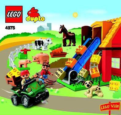 Bricklink Set 4975 1 Lego Farm Duploduplo Townfarm