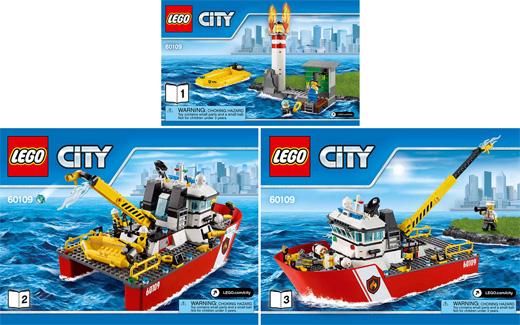 Bricklink Set 60109 1 Lego Fire Boat Towncityfire