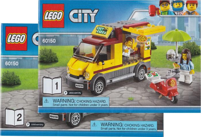 Bricklink Set 60150 1 Lego Pizza Van Towncitytraffic