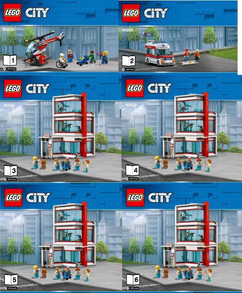 Passt zu 60141 60216 60229 LEGO® 60204 CITY® Krankenhaus Neu+OVP+Ungeöffnet!!!