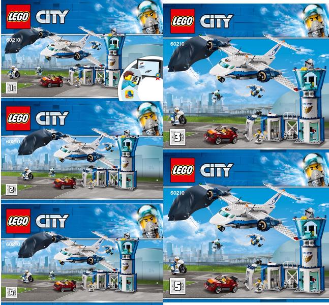 LEGO City Sky Police Air Base Set 60210