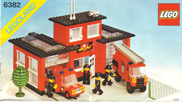 Bricklink Set 6382 1 Lego Fire Station Townclassic Townfire
