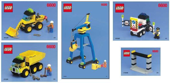 Bricklink Set 6600 2 Lego Highway Construction Towntown Jr