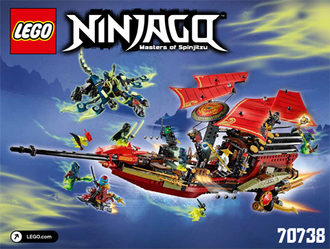 Lego New Instructions ONLY for Set 70738 Final Flight of Destiny/'s Bounty Manual