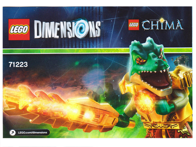 LEGO Dimensions Chima Fun Pack 71223 Cragger Swamp Skimmer New Sealed